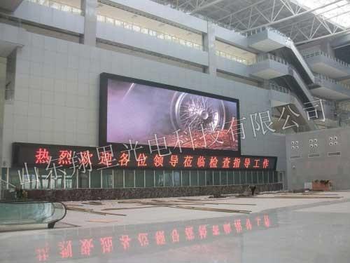 山东淄博新客运中心P10表贴三合一室内全彩屏120?